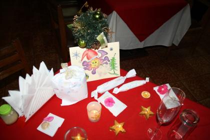 Unser Weihnachtstisch