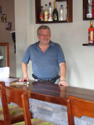 Hugo in seinem Restaurant