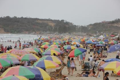 Der Strand an dem man ist