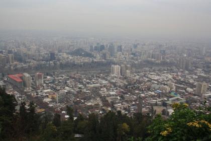 Hochnebel über Santiago